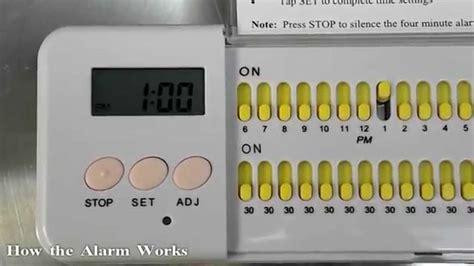 Capsul Medicine Box With Alarm pill box with alarm e pill multi alarm plus