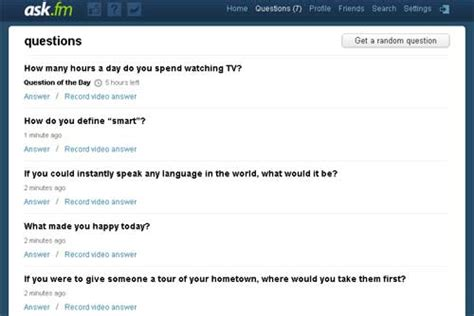 askfm help top 30 online question and answer sites