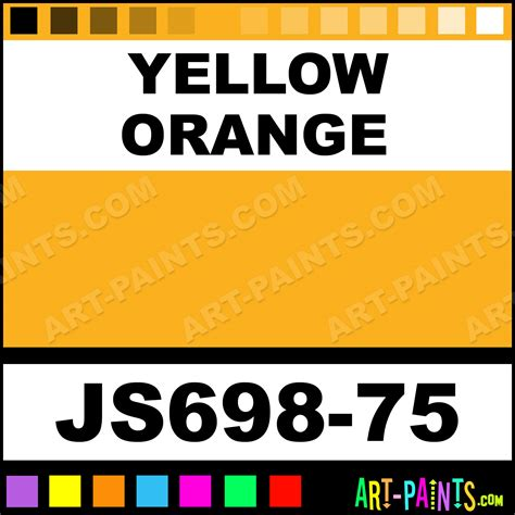 yellow orange artists colors acrylic paints js698 75 yellow orange paint yellow orange