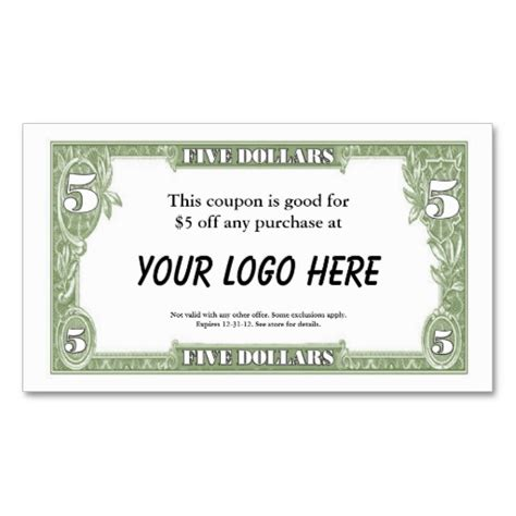 Best Photos Of Dollar Bill Coupon Template Blank Dollar Bill Template Business Coupon Powerpoint Coupon Template