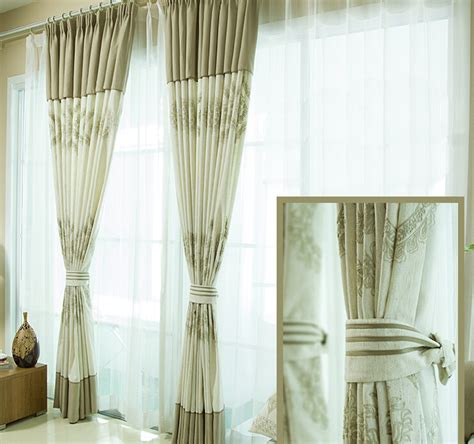 Rustic Curtains And Drapes Rustic Linen Poly Blend Floral Drapes And Curtains