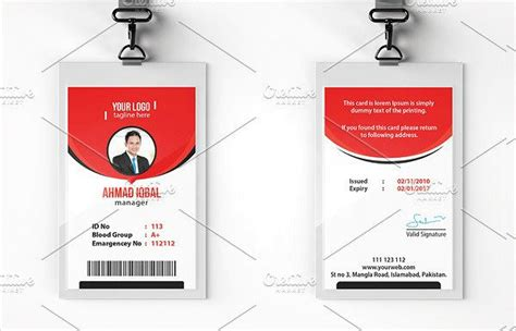 id card html css template 29 customizable id card templates free premium