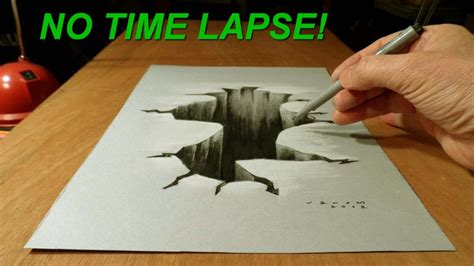 How To Make Paper Look 3d - 3d drawing drawing on paper no time lapse