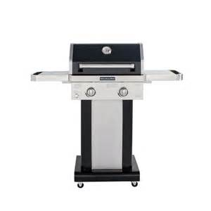 kitchenaid 2 burner propane gas grill in black with grill