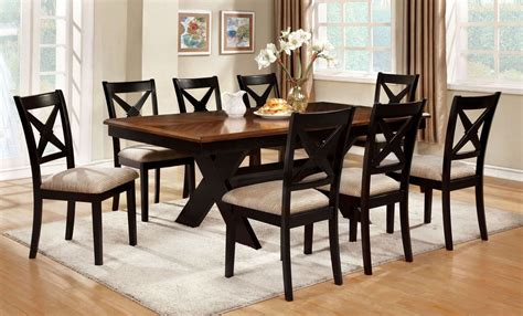 liberta oak rectangular trestle dining room set