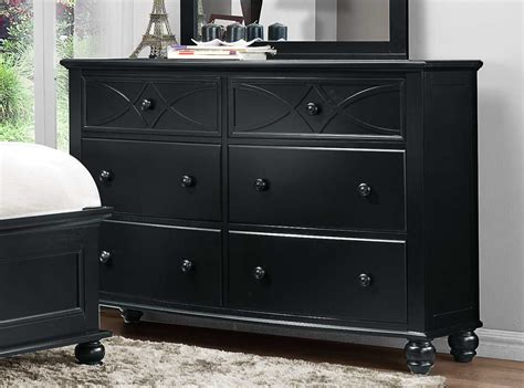 Black Bedroom Dressers Homelegance Sanibel Dresser Black 2119bk 5 Homelegancefurnitureonline