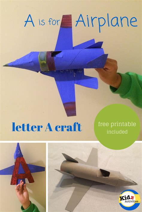 how to make a boat level out a is for airplane craft kidz activities