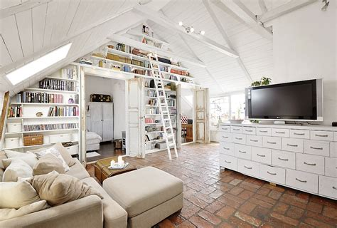 modern shabby chic stunning attic apartment in modern and shabby chic styles
