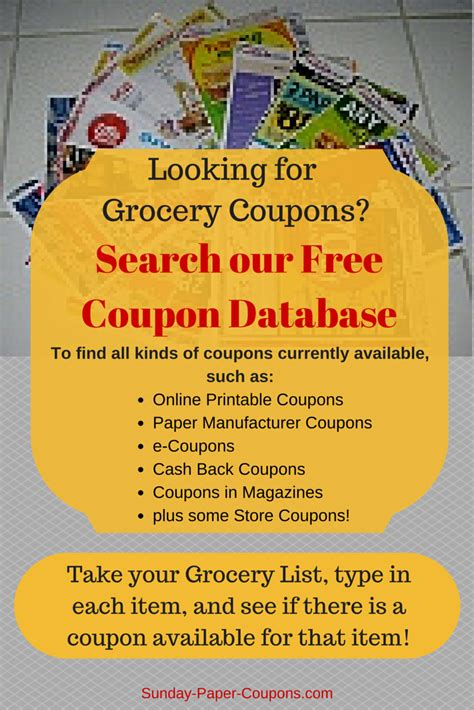 legitimate printable grocery coupons online coupon database free grocery coupons
