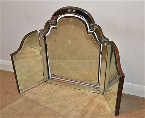 Vanity Table With Fold Mirror by Fantastic Antique Dressing Table Vanity Mirror Tri Fold 3