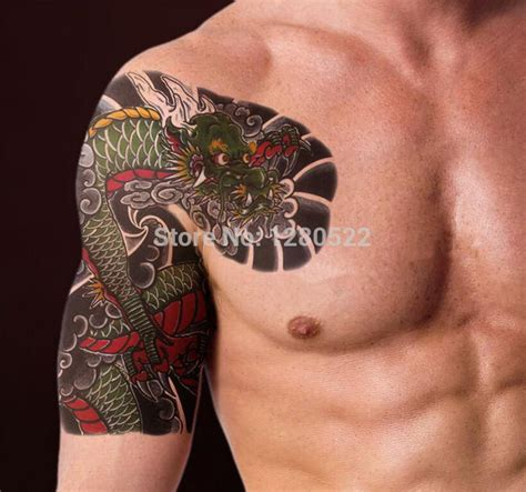 temporary shoulder tattoo sticker cool big body art tiger
