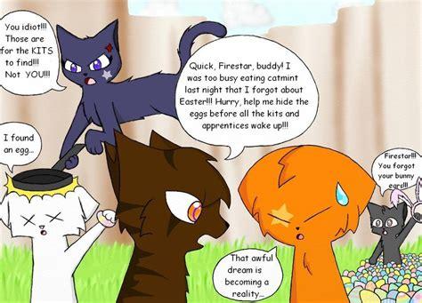 Warrior Cat Memes - firestar also doesn t like easter by lightstormxravenwing on deviantart
