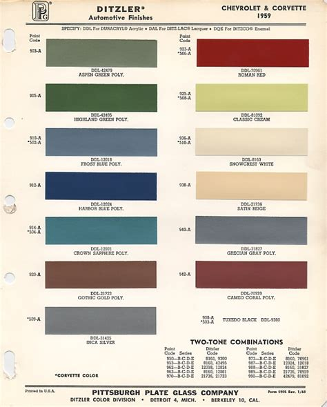 1959 chevrolet paint chips xframechevy