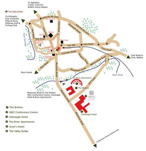 killarney tourist map killarney mappery