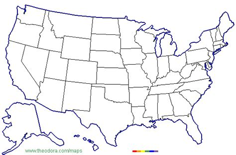 usa map no color abc maps of the united states of america flag map