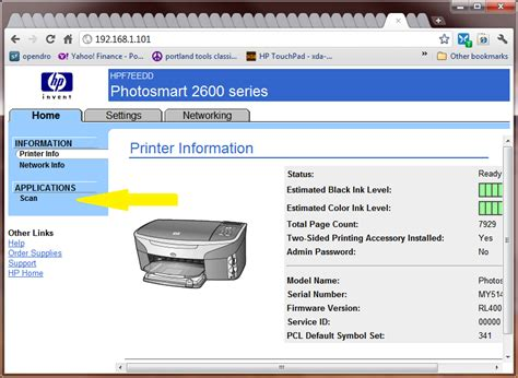 Printer Ip i an hp all in one printer 2710 unable to scan