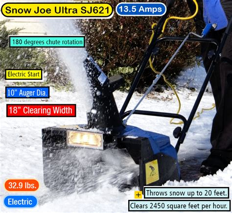 snow joe 18 ultra electric snow thrower with light best snow blowers ultimate snow thrower buying guide