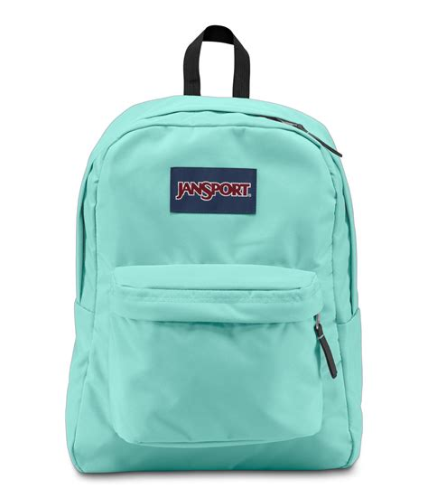 jansport superbreak school backpack aqua dash