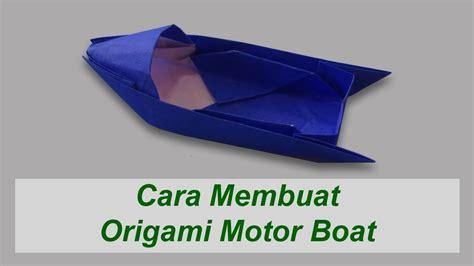 Origami Perahu Boat - cara membuat origami motor boat perahu motor