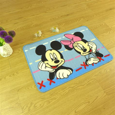 Mickey Mouse Bathroom Rug 50cm 80cm Non Slip Mat Mickey Mouse Carpet Children Bedroom Mat Kitchen Bathroom Rug Home
