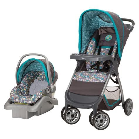 purple and gray stroller and carseat upc 884392593971 disney baby geo pooh travel system