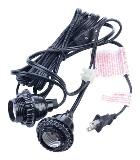 Pendant Light Socket Kit Socket Pendant Light Cord Kit For Lanterns 17ft Black Ebay