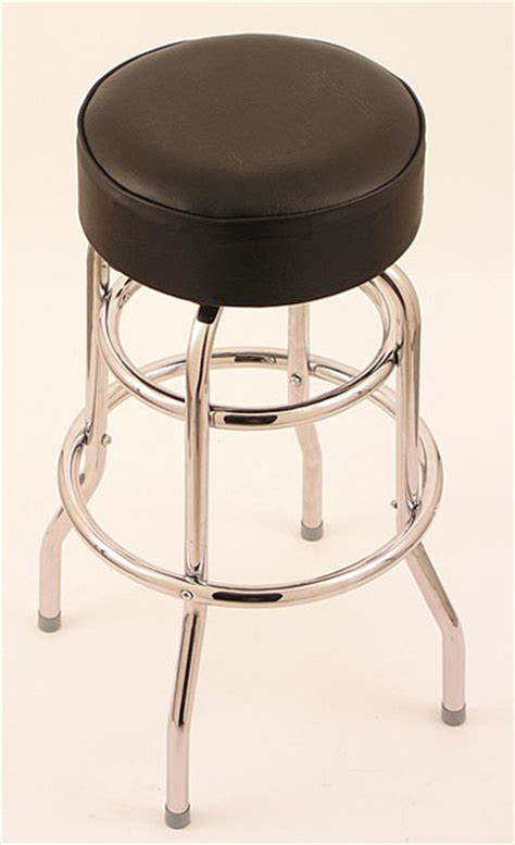 bar stools for 44 inch counter chrome double ring 25 inch backless counter swivel stool