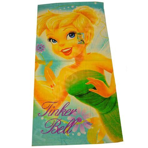 tinkerbell bathroom disney fairies tinkerbell beach bath towel new ebay