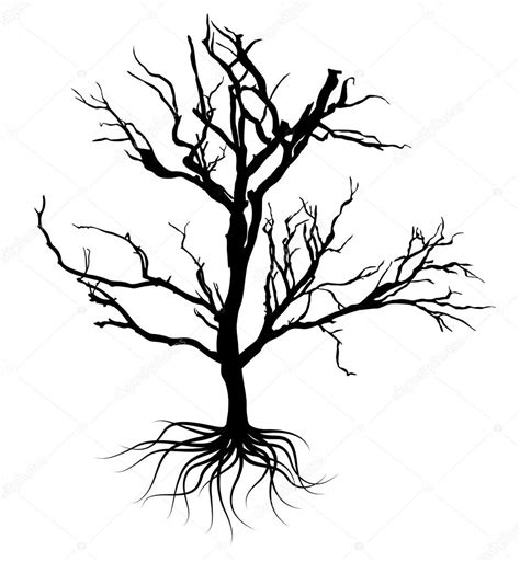 black dead tree design stock vector 169 baavli 64421965