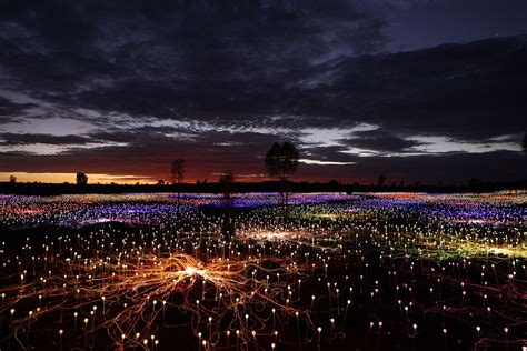 a at field of light uluru field of light
