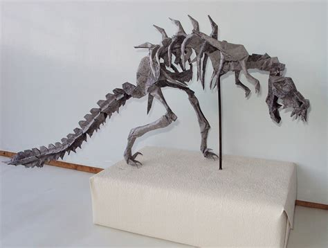mind blowing origami dinosaur skeletons origami me