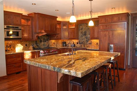 Granite Countertop Colors For Cherry Cabinets by Granite Countertop Colors With Cherry Cabinets