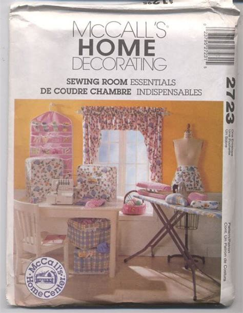 mccalls 2723 uncut pattern home decor sewing room mccall s home decorating 2723 sewing room essentials