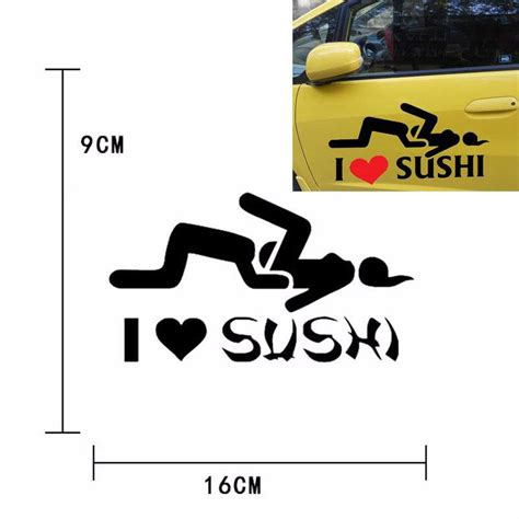 I Love Sushi Aufkleber by 2018 I Love Sushi Stickers Car Sticker Reflective