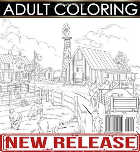 town coloring book stress relieving coloring pages coloring book for relaxation volume 4 books creative country farm coloring book adults