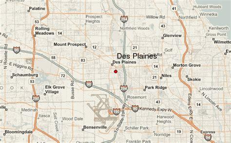 des plaines illinois map des plaines location guide