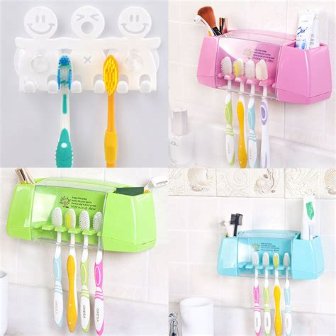 Wholesale Cartoon Toothbrush Holder Suction Hooks Cups Suction Bathroom Accessories