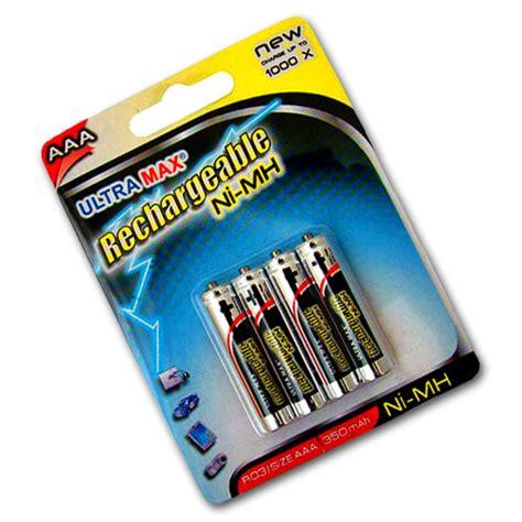 4 X Ultramax Aaa Ni Mh Rechargeable Batteries R03 Digital Aaa Solar Light Batteries