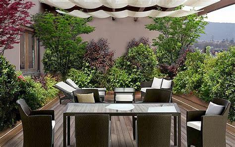 come arredare un terrazzo con piante come arredare il terrazzo casanoi