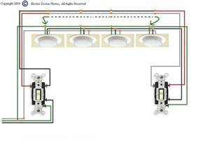 i need a diagram for wiring three way switches to