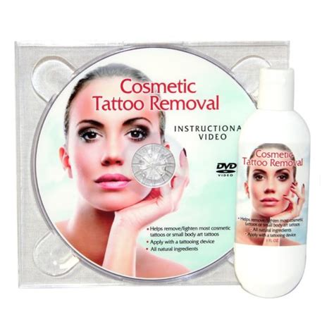 cosmetic tattoo removal cream and instructional dvd