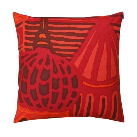 Marimekko Pillows Sale by Marimekko Kumiseva Orange Throw Pillow Marimekko Sale