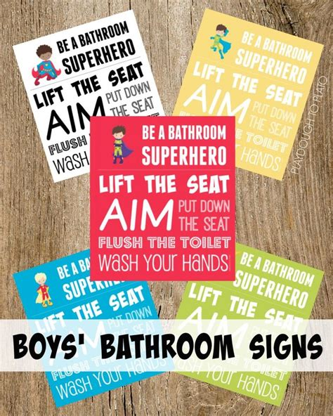 superhero bathroom signs boys bathroom signs be a bathroom superhero free