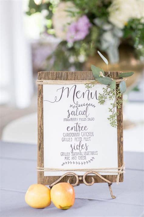 wedding table menu ideas 24 stunning ideas for decorations for weddings