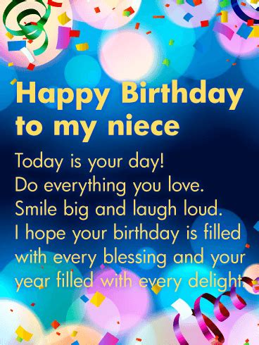 Happy Birthday Wish For My Niece by Today Is Your Day Happy Birthday Wishes Card For Niece