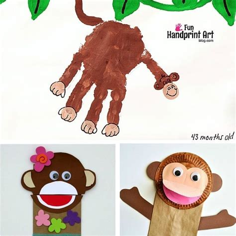 new year crafts for year of monkey 20 cool monkey crafts and activities for