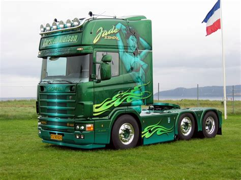 scania truck free high quality green trailer scania trucks