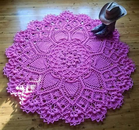 name doily pattern pineapple song doily rug pattern by p kristoffersen
