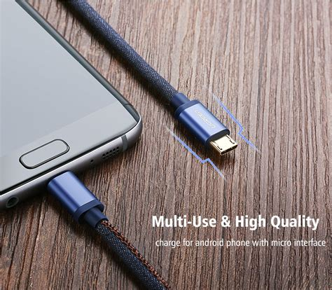 Exporia Design Denim Kabel Cable Charger Usb Type Tipe C ugreen micro usb 2 0 cable braided sync and fast charging data cable for android mobile
