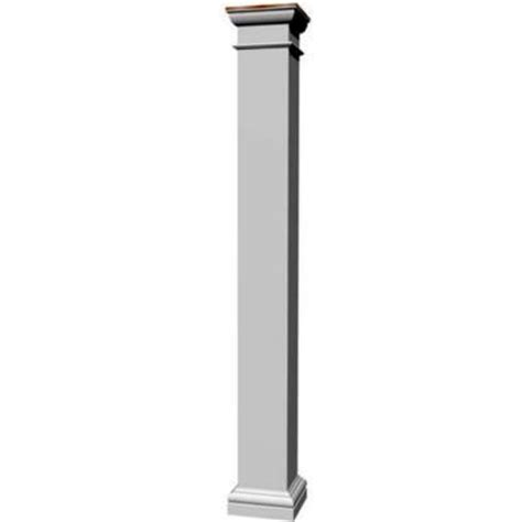 decorative columns home depot decorative wood work 6 in x 6 in x 8 ft composite square column 3